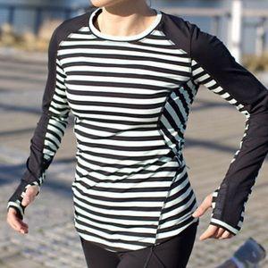 Lululemon : long sleeve striped reflective top